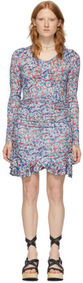 Isabel Marant Blue and Multicolor Sabria Dress