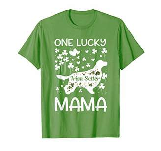 Irish Setter One Lucky Mama St Patricks Day Dog Mom T-Shirt