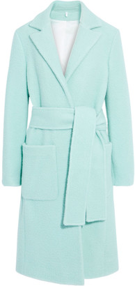 Helmut Lang Teddy Belted Brushed Wool-blend Felt Coat