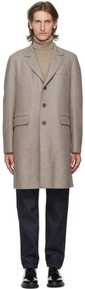 Harris Wharf London Grey Wool Chester Coat