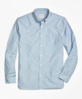 Brooks Brothers Blue Stripe Sport Shirt