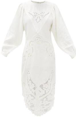 Isabel Marant Edrea Broderie-anglaise Linen Midi Dress - Ivory