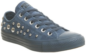 Converse Low Leather Trainers Blue Fir Multi Studio Exclusive