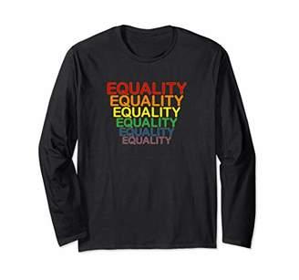 Well Worn Equal Equality Rainbow Long Sleeve T-Shirt