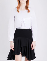 J.W.Anderson Panelled cotton cropped top