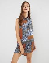 Glamorous Sleeveless Printed Shirt Dress