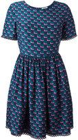 Kenzo fitted top, full skirt dress - women - Silk - 36