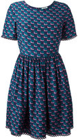 Kenzo fitted top, full skirt dress - women - Silk - 38