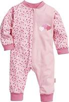 Playshoes Baby Girls Pyjama Overall Jersey Hearts Sleepsuit,(Manufacturer Size: 56)
