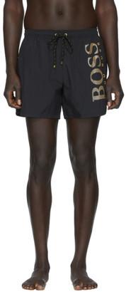 BOSS Black and Gold Icefish Swim Shorts
