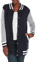 hot & delicious Knit Varsity Jacket