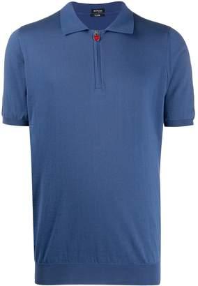 Kiton Zipped Spread-Collar Polo Shirt