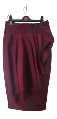 Issa Burgundy Polyester Skirts