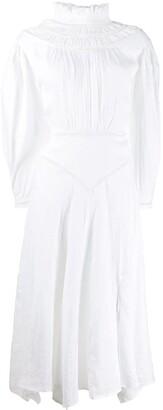 Etoile Isabel Marant long sleeve ruffled neck dress