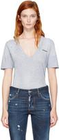 DSQUARED2 Grey V-Neck Renny T-Shirt
