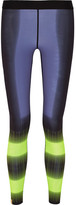Monreal London Reversible Printed Stretch-jersey Leggings - Navy