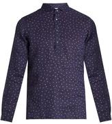 Boglioli Polka-dot print linen shirt