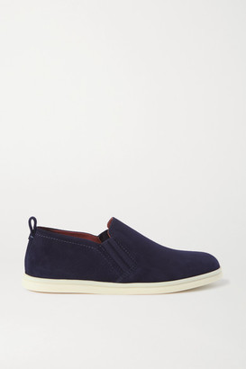 Loro Piana Cocoon Walk Suede Loafers - Navy