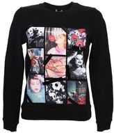 Kenzo Photo Printed Black Cotton Sweatshirt