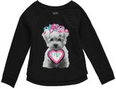 "French Toast Little Girls' Toddler ""Fancy"" Sweatshirt"