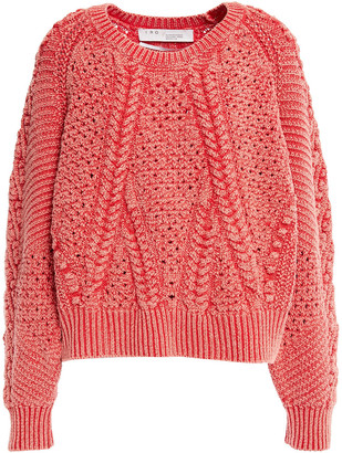 IRO Corbel Cable-knit And Open-knit Cotton-blend Sweater