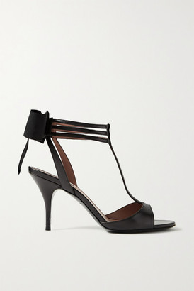 Tabitha Simmons Dipsi Bow-embellished Leather Sandals - Black