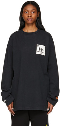 Heron Preston Black Herons Halo Long Sleeve T-Shirt