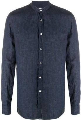 Xacus Button-Up Band Collar Shirt