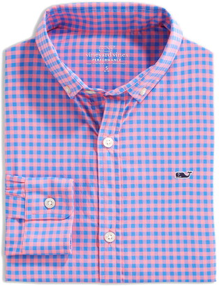 Vineyard Vines On the Go Wrinkle Resistant Performance Button-Down Shirt