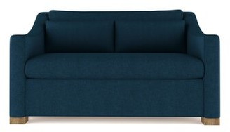 17 Stories Crosby Sofa Upholstery: Leather Alabaster