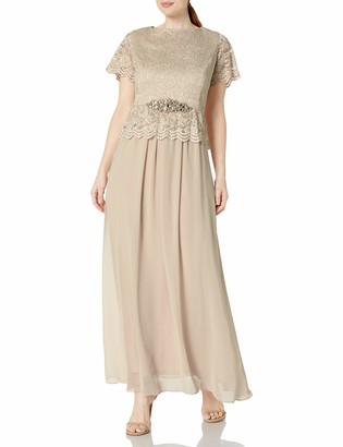 Jessica Howard JessicaHoward Women's Plus Size Popover Gown