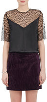 Nina Ricci Women's Satin & Lace Top