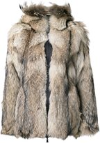 Kru reversible coyote fur lined jacket