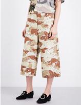 Maison Margiela Camouflage-print cotton trousers