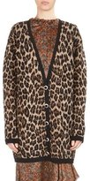Magda Butrym Rochester Leopard Intarsia V-Neck Cardigan