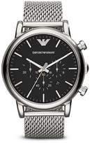 Emporio Armani 3-Hand Chronograph Mesh Watch, 46mm