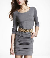 Express Ruched Knit Scoop Neck Dress