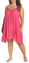 Plus Size Women's Elan Scooped Back Cover-Up Slipdress