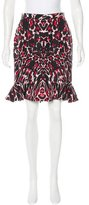 McQ by Alexander McQueen Printed Flounce Skirt w/ Tags