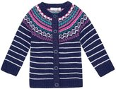 Jo-Jo JoJo Maman Bebe Fair Isle Cardigan (Toddler/Kid) - Navy-4-5 Years
