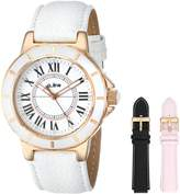 A Line a_line Women's 20008-SSET Marina Textured Dial Leather Watch