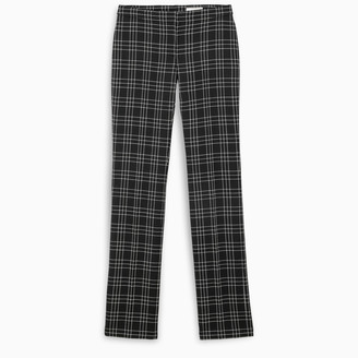 Alexander McQueen Welsh check cigarette trousers