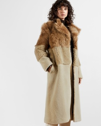Ted Baker Full Shearling Coat