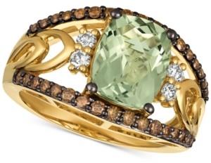 LeVian Le Vian Chocolatier Mint Julep Quartz (2-5/8 ct. t.w.) & Diamond (5/8 ct. t.w.) Ring in 14k Gold