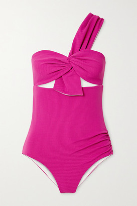 Marysia Swim Venice One-shoulder Cutout Swimsuit - Pink