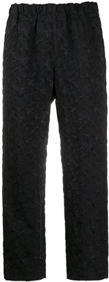 Comme des Garcons Textured Cropped Trousers