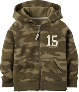 Carter's Camo Fleece Hoodie (Toddler/Kid) - Green-5