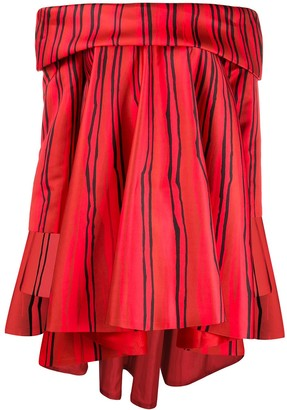 Moschino High-Low Hem Striped Dress
