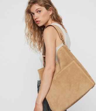 AllSaints Ziggy Suede North South Tote Bag
