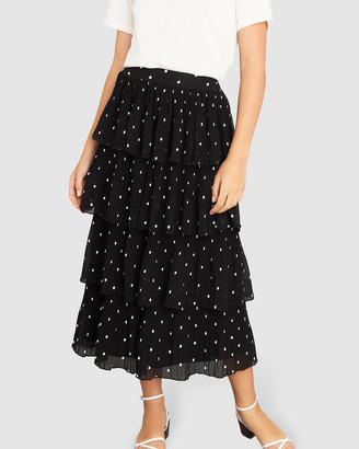 Apero Label Evie Frill Midi Skirt